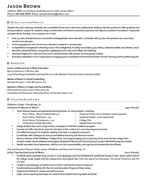 What's A Good CV Sample?