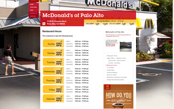 What time does mcdonalds stop serving lunch at night