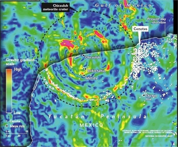 Resultado de imagen de yucatan meteorite