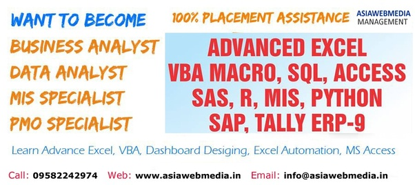 Where can I get free MIS training with Advanced Excel, VBA