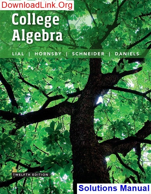 Essentials Of College Algebra 10th Edition Pdf