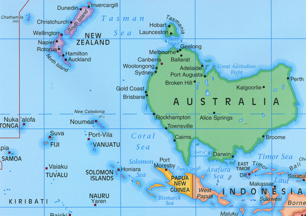 heres a map of australia