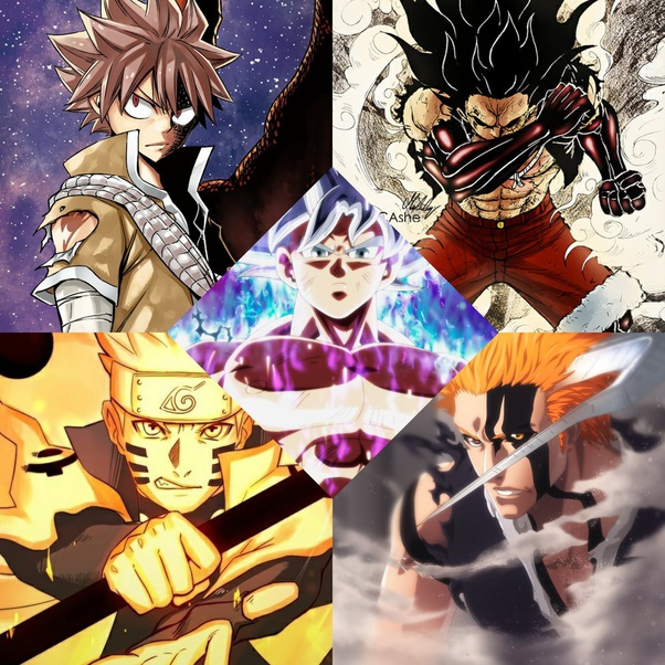 Who Would Win In A Fight Goku Vs Naruto Luffy Aang Ichigo And Natsu Quora
