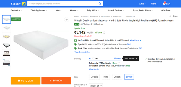 f1e8d14149b Now the same mattresses are being sold at Rs 5