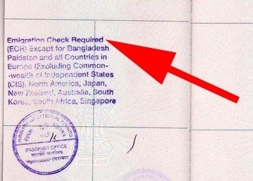What Is An Ecr Stamp On An Indian Passport Quora