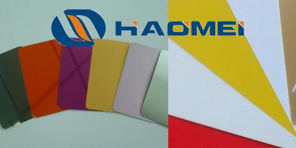 How many painting types are there for colour coated aluminium sheets ...