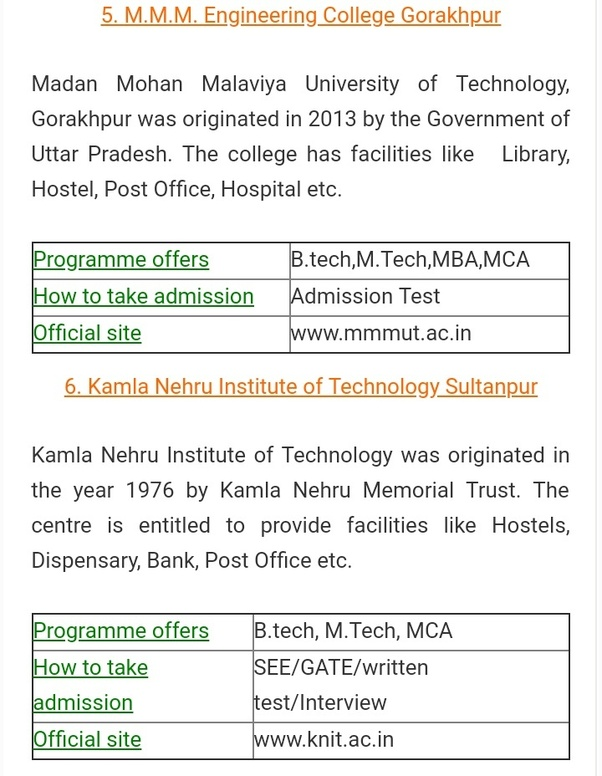What are the top 20 UPTU government colleges rank-wise for a B Tech