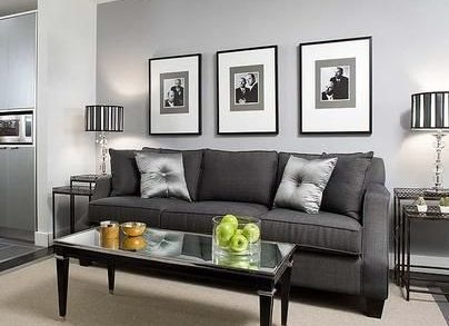 Exceptionnel Or Your Lighter Grey Couch Could Go With A White Wall.