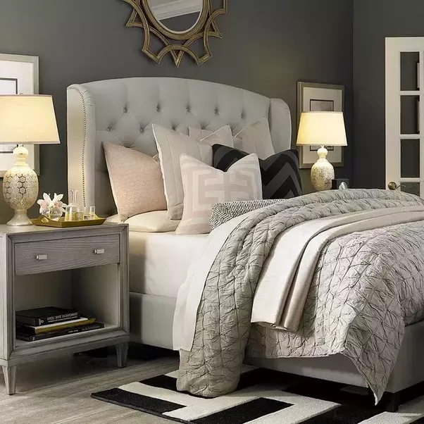 Because This Is A Rather Dark Color, I Would Consider Bedding Full Of Color  To Liven Up The Room. Let Me Show You A Fun Example: