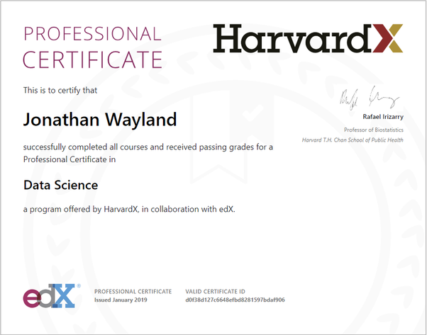 Is it worth it getting the Harvard's Data Science Professional