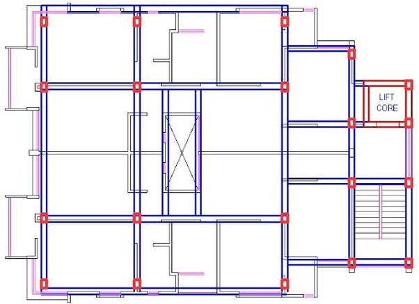 How to apply columns and beams in the plan of building - Quora