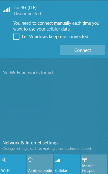 Can I use a Jio 1500 phone net connection on a PC or any