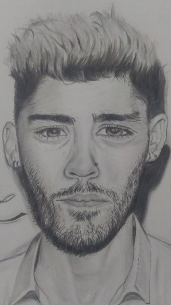 I tried to draw the portrait of one of my favourite singer zayn malik its not an exact one but still i was pleased after i completed my task