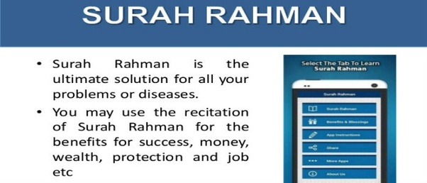 What are the benefits of Surah Rehman? - Quora