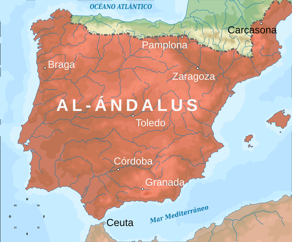 Map Of Spain Under Moorish Rule.How Long Did The Moors Rule Spain Quora