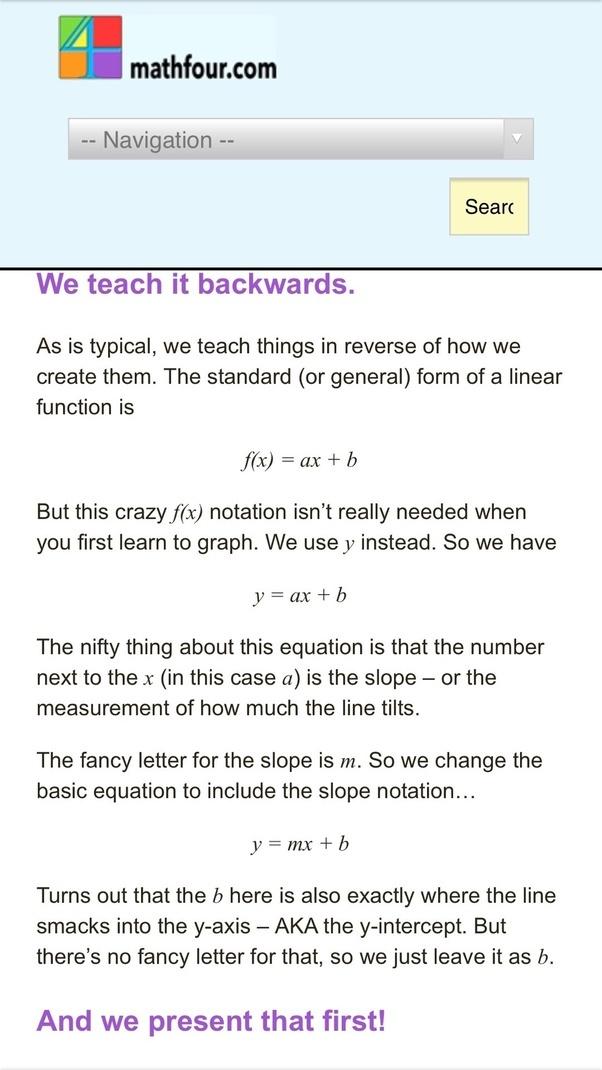 Why Is The Mathymath Intercept Called Mathbmath Quora
