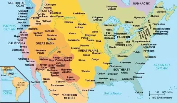 North america map native american tribes
