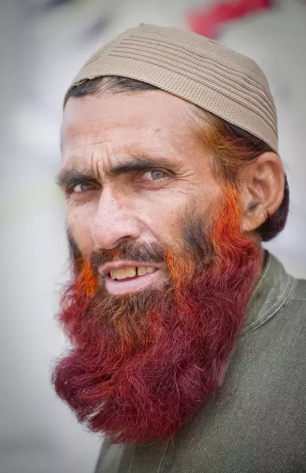 Why do (some) men from south Asia dye their beards in red? - Quora