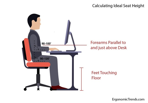 Cool Ergonomics What Is The Ideal Height For A Desk Chair Quora Evergreenethics Interior Chair Design Evergreenethicsorg