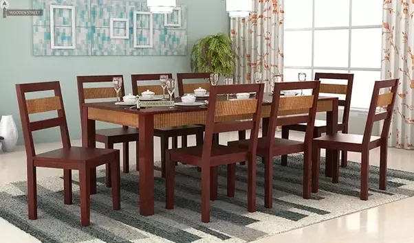If You Feel The Need Of 6 Seater Dining Table But Do Not Have Enough Space  To Accommodate It Then You Can Go For Extendable Dining Table.