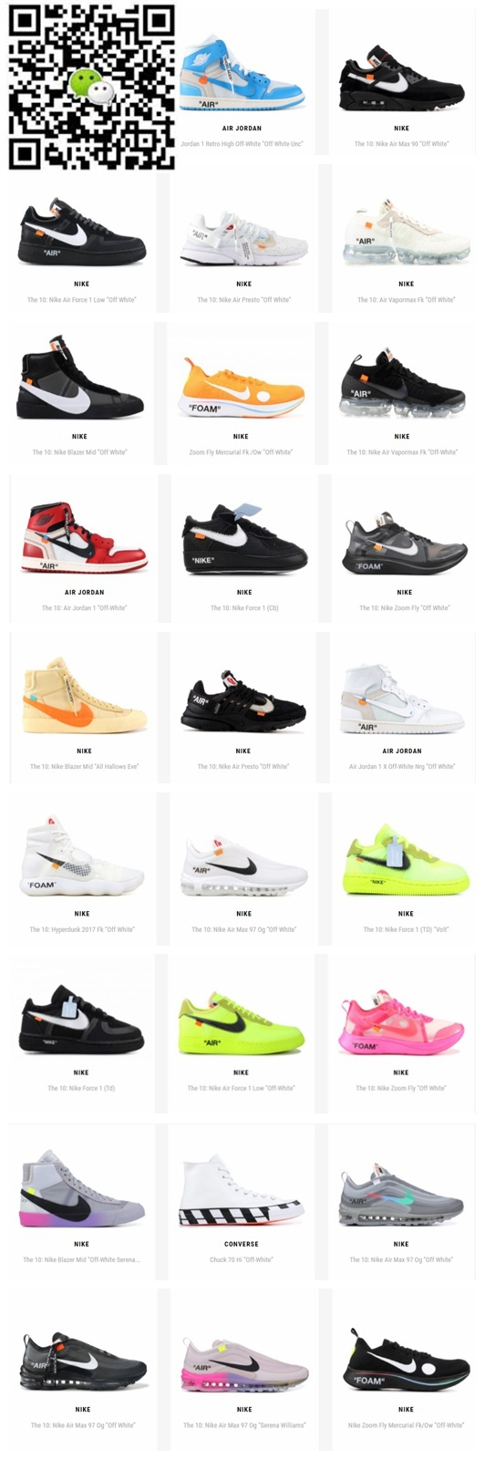 huge selection of 89432 f98a0 2019 nike replicas off white shoes.