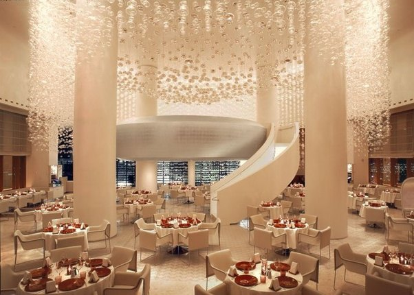 Dripping With Over 10000 Crystal In Its Dining Room This Place Gives Luxe An Ultra New Definition Led To Success By Alain Ducasse Celebrity Chef