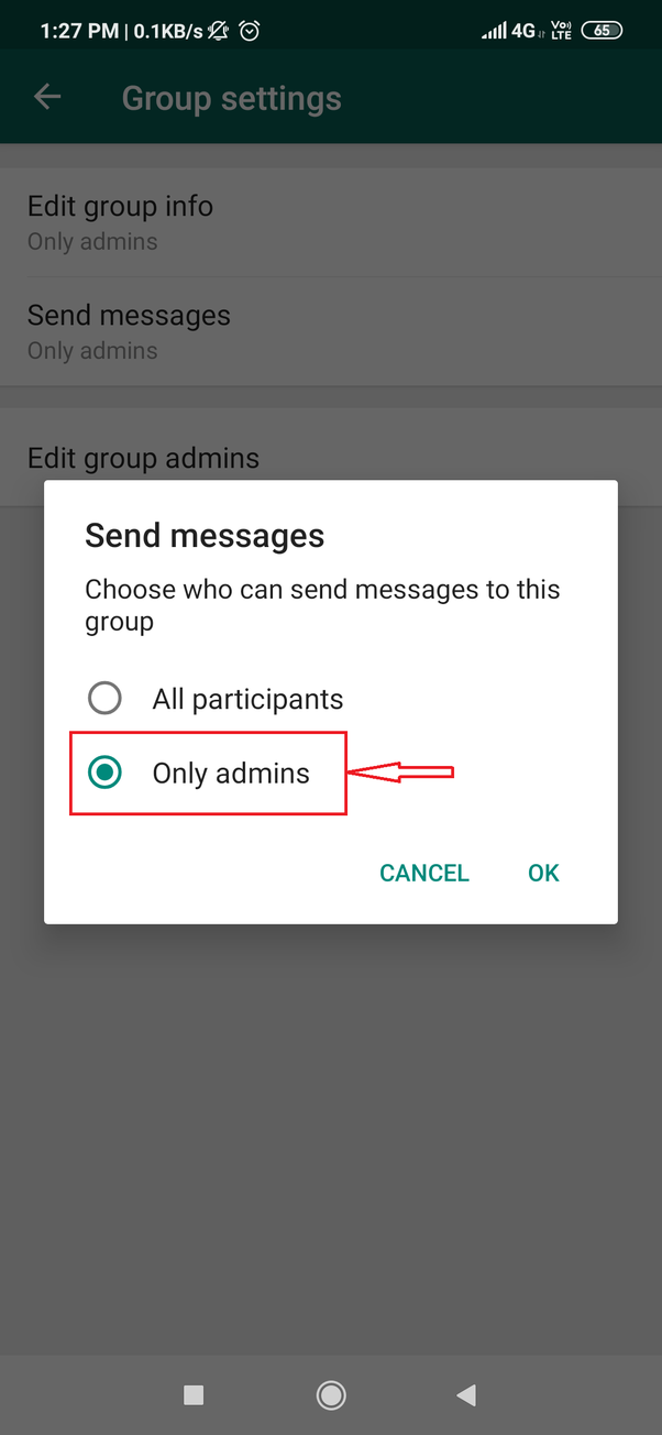 How to create a WhatsApp group with only one person allowed
