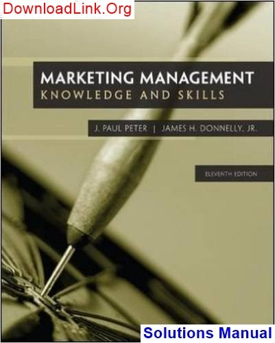 Books marketing management: knowledge and skills, 11th edition by j. ….