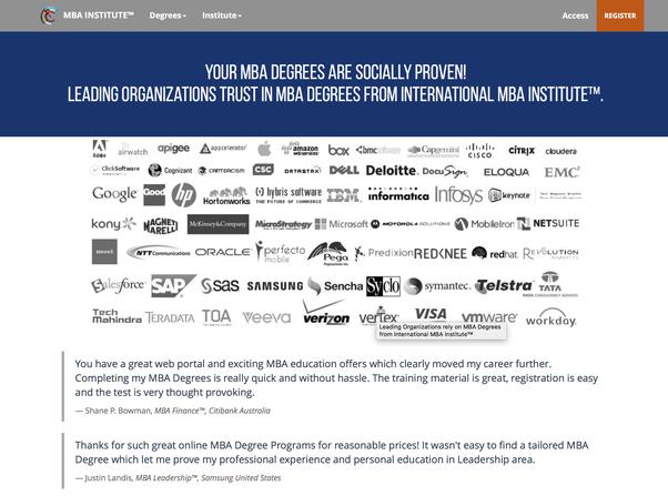 Is the International MBA Institute of Zurich Switzerland
