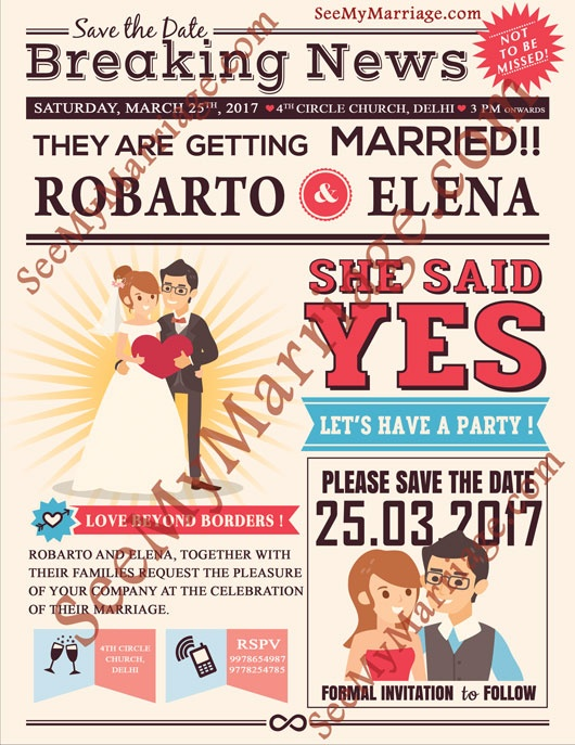 What is e invitation quora wedding chronicle daily newspaper style save the date whatsapp card stopboris Choice Image