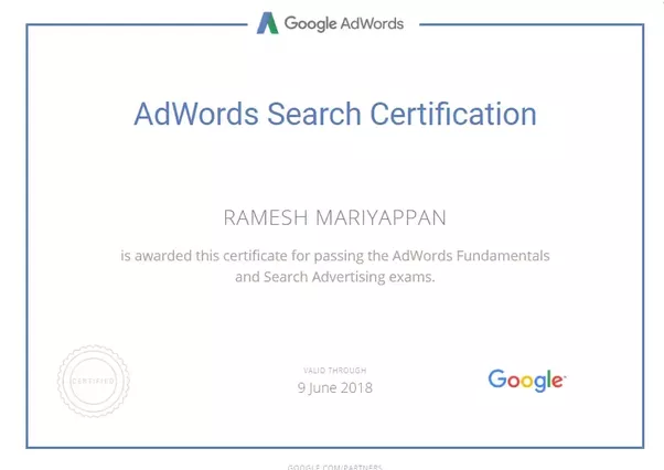 Google Adwords Certification Quora