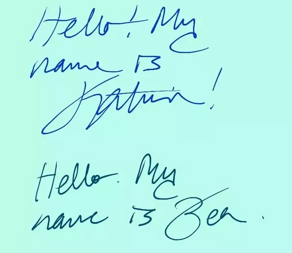 In Our Case It Doesnt Appear That Handwriting Is Notably Different However I Think Worth Mentioning Write At A Speed Than