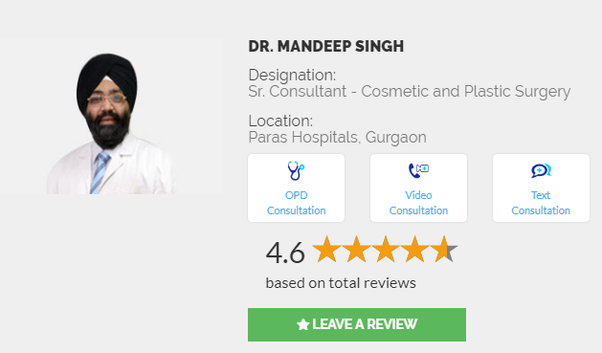 Who is the best plastic surgeon in Gurgaon, Delhi, India