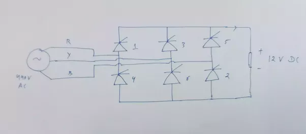 How To Convert 3 Phase  440 V Ac  In 12v Dc