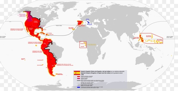 Show Me The Map Of Spain.Why Were Some Spanish Colonies Less Successful Than Some British