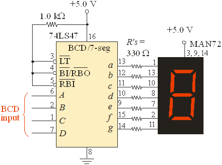 Logic Diagram Of Ic 7447 Schematics Wiring Diagrams