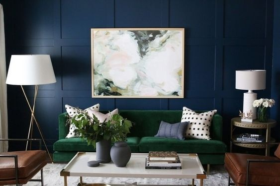 Shades Of Blue Green It Creates An Amazing Combination And Makes A Bold You Can Always Use Metallic Home Decor Products Like Planters Wall Art