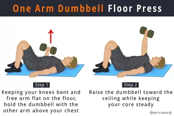 One Arm Dumbbell Floor Press 3 X 6 12