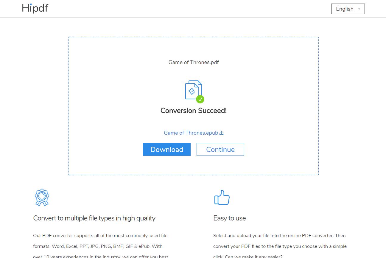epub to pdf converter download