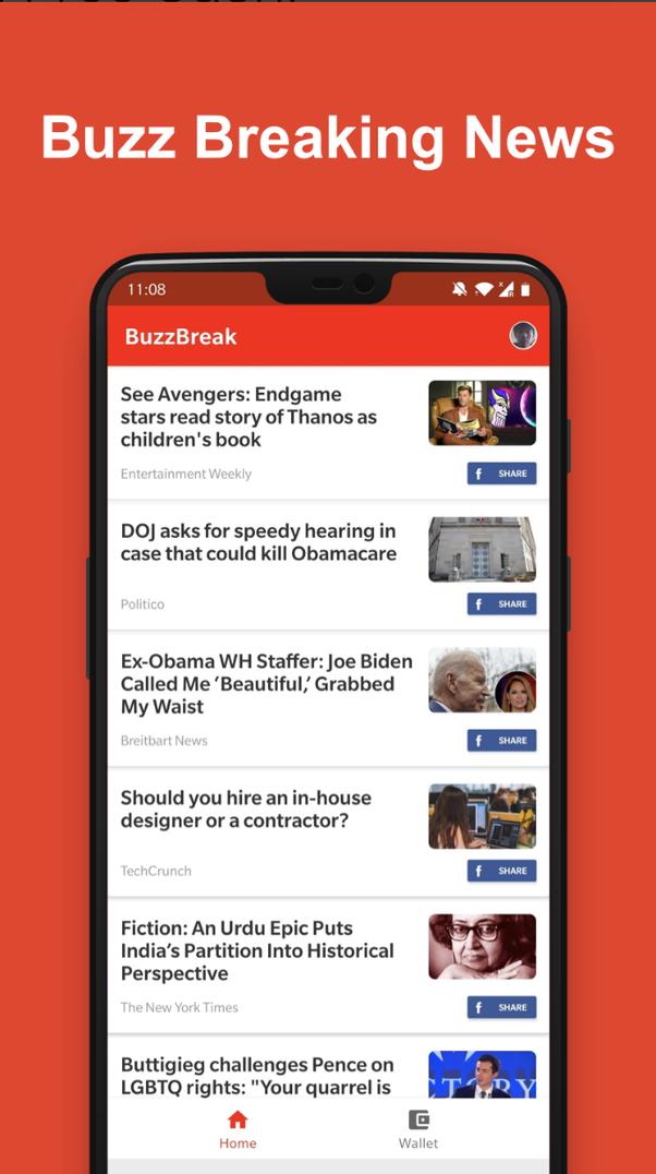 Is BuzzBreak the best news app that pays? - Quora