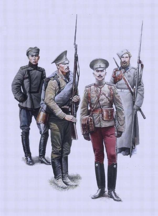 Is it true that many Russian soldiers in WW1 didn't wear a