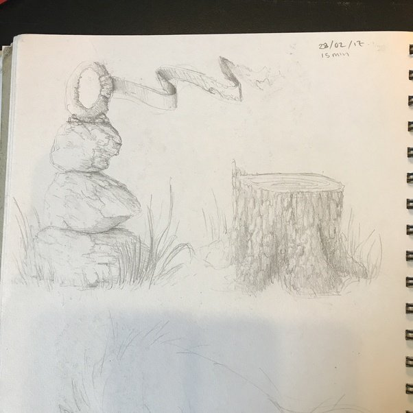 I Love Doodling Things That Would Look Cool In A Game Scene Its Quite Fun To Draw Different Organic Elements Such As Trees And Rock Sculptures