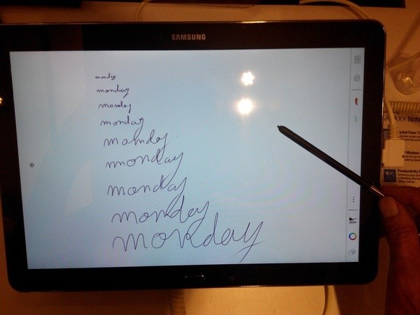On my tablet