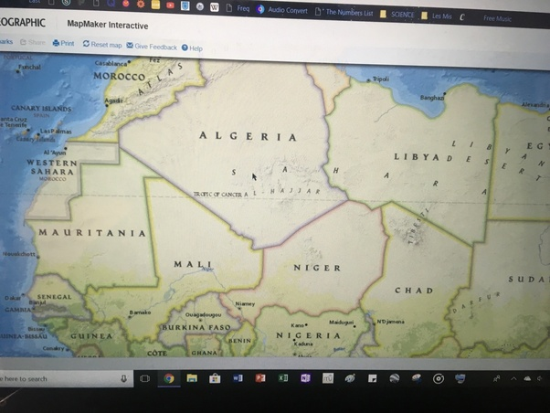 What are the countries in Africa that the Tropic of Cancer passes ...