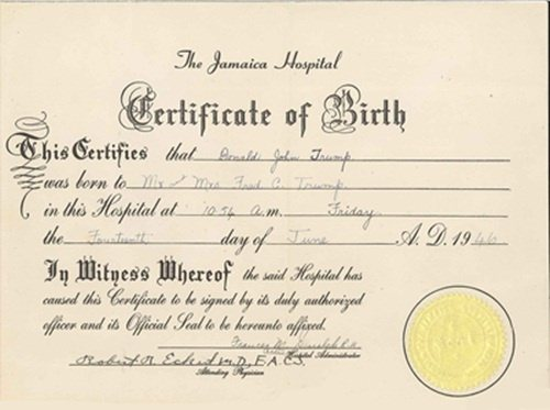 What does a New York birth certificate look like? - Quora