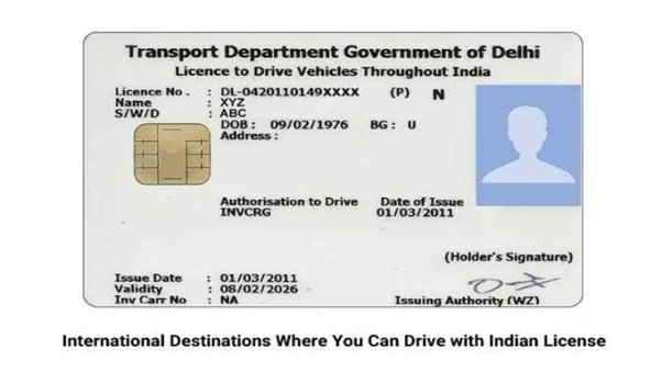In what countries is a Indian drivers license valid? - Quora