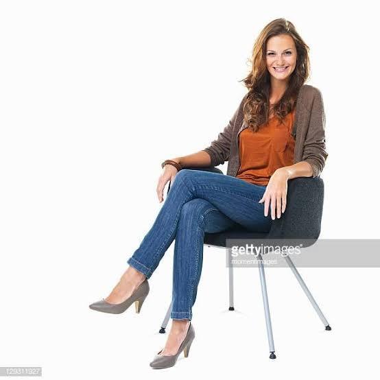 Women crossing their legs