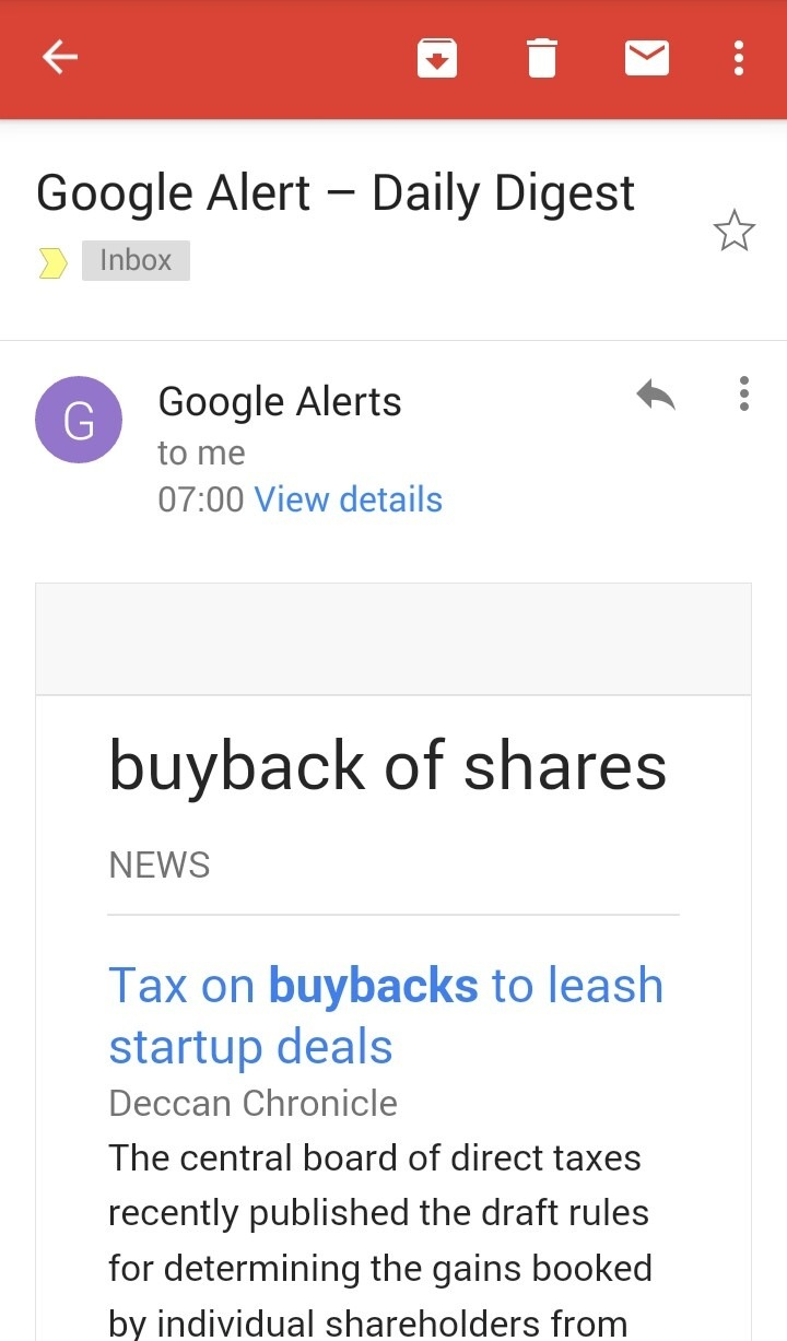Where can we know does company's buying back its shares from