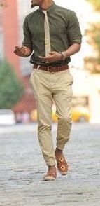 What Color Pantsjeans Go Well With An Olive Green Shirt For Men To