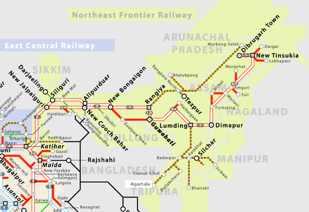 Which state does not have a rail route Quora